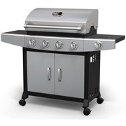 Shop Broil chef 4 Burner LP Barbecue with Side Burner Propane Gas Gril