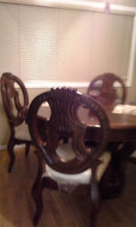 Ornate Dinning Room Set (Round Table and 4 Chairs)