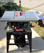 Craftman 10 ' Table saw w/stand and dust Bag