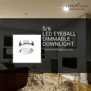 Use 5/6'' LED Eyeball Dimmable Downlight for Better Lighting Results