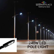 Purchase DLC Approved 240w LED Pole Lights for Maximum Cash Benefits.