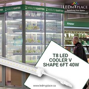 Use Durable T8 6ft LED Cooler Tubes For Attracting Customers