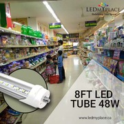 Replace Fluorescent Tubes with Single Pin 48w 8ft LED Tube for Better