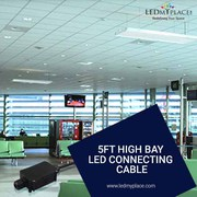 UL, CE and ROHS Approved 5ft High Bay LED Connecting Cables