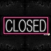 Closed With Pink Border Neon Sign