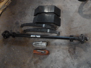trailer axle 2000 lb leaf springs fenders never used