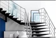 Modern Design Metal Railings Stairs in Toronto