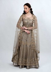 Grey Embroidered Multi Functional Outfit - Mehar Limited