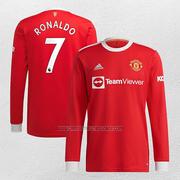 Camiseta Manchester United Jugador Ronaldo Primera Manga Larga
